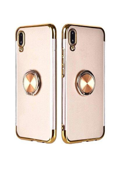 Omelo Apple Iphone 6s Kılıf Yüzük Standlı Metal Manyetikli Tutucu Silikon Hediyeli