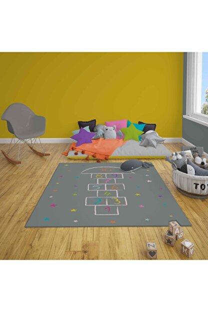 HalıVagonu Hv349 Seksekli Yıldızlı Renkli Çocuk Oyun Halısı