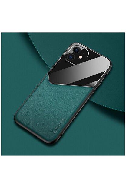 Dara Aksesuar Apple Iphone 11 Kılıf Zebana New Fashion Deri Kılıf Yeşil