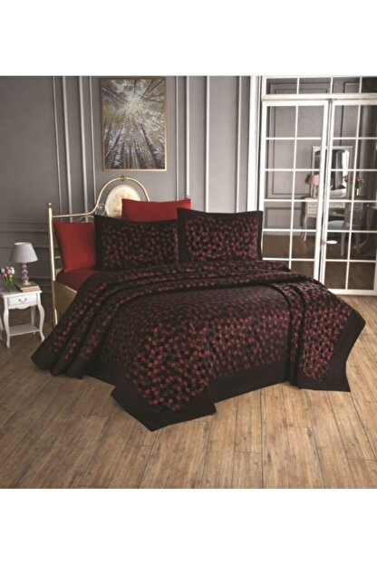 Finezza Madame Jasmin 3d Domino Yatak Örtüsü Kırmızı
