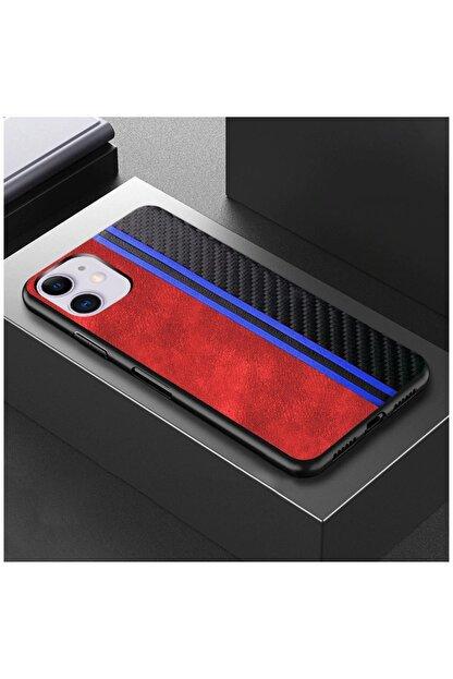 Dara Aksesuar Apple Iphone 11 Kılıf Spor Deri Kılıf Kırmızı
