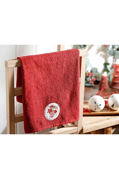 English Home Christmas Ball Nakışlı Paketli Hediyelik Havlu 40x60 Cm Kırmızı