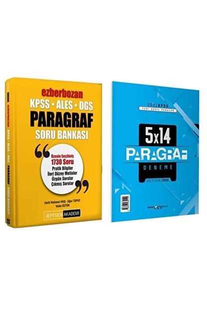 Pegem Akademi Yayıncılık 2021 Kpss Ales Dgs Pegem Ezberbozan Paragraf Soru Bankası + 5x14 Deneme
