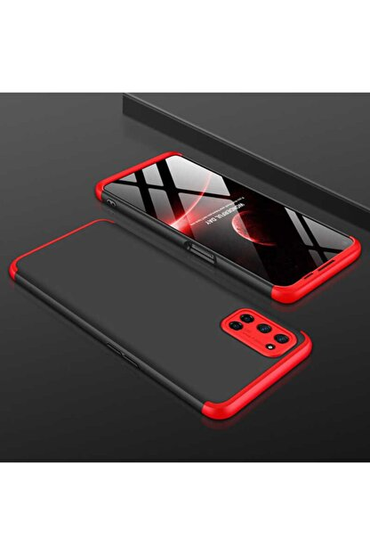 Teknoloji Adım A52 Sert Silikon Kılıf Siyah/kırmızı