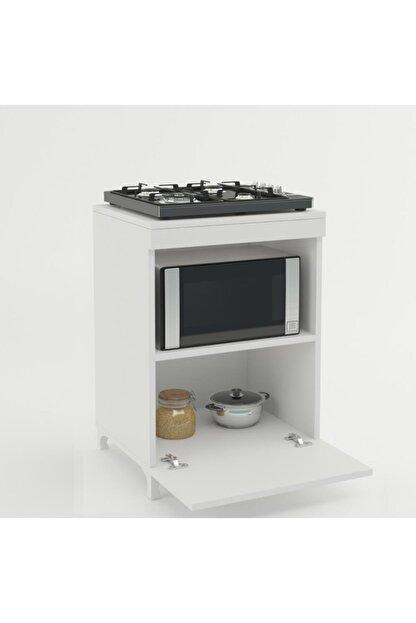 Kenzlife Beyaz Mutfak Ocak Dolabı 85*60*57