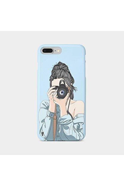 Roxo Case Iphone 8 Plus Baskılı Mavi Lansman Kılıf