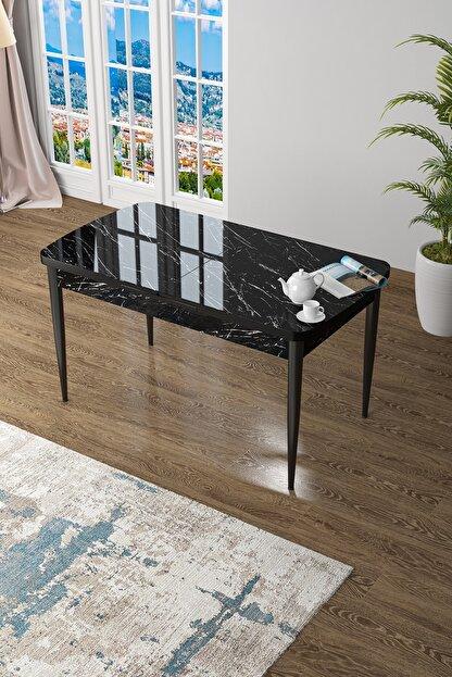 Canisa Concept Zen Serisi Mdf Açılabilir Mutfak Masası, Yemek Masası ,siyah Mermer Desen
