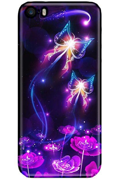 Noprin Apple Iphone 5s Kılıf Silikon Baskılı Desenli Arka Kapak