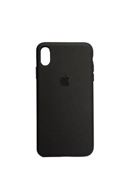Mopal Iphone Xs Max Uyumlu Logolu Siyah Silikon Lansman  Telefon Kılıfı
