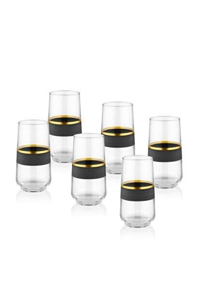 The Mia Glow Cam 6'lı Meşrubat Bardağı Siyah-gold Glw0002