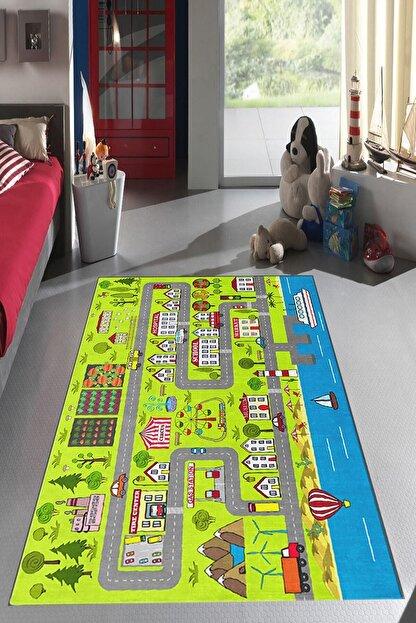 Homefesto Dekoratif Özel Tasarım Antibakteriyel Leke Tutmaz Çocuk Halısı