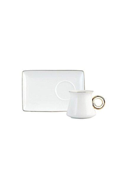 ACAR Beyaz Kahve Fincan Seti Can-009665