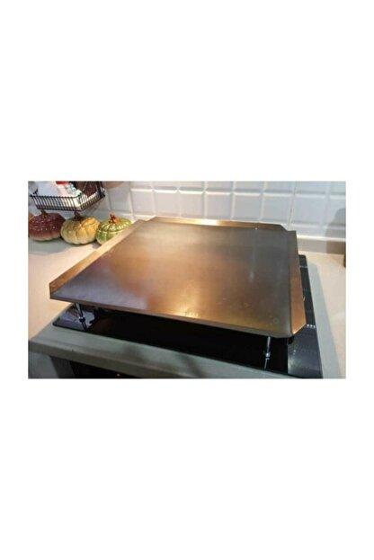 Has Xx-35 Irlı Ocak Üstü Kare Düz Sac Ekmek Yufka Bazlama Köfte Pişirme Sacı Kulpsuz 50504