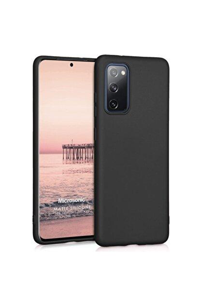 Samsung Microsonic Matte Silicone Galaxy S20 Fe Kılıf Siyah