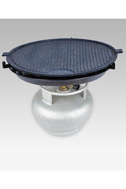 M&K Home Tüplü Döküm Granit Mangal Tava Izgara Et Tavuk Mühürleme Yufka Ekmek Pişirme Portatif 45 Cm