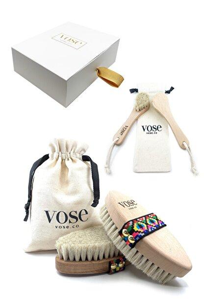 Vose 2' Li Set Doğal At Kılı Selülit (Tulip) + Yüz Fırçası