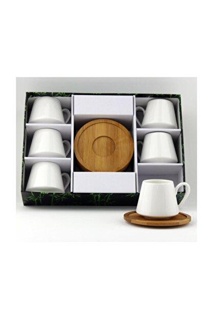 Lavin Porselen Bambu Tabak Kahve Fincan Takımı Yaldızlı 2592