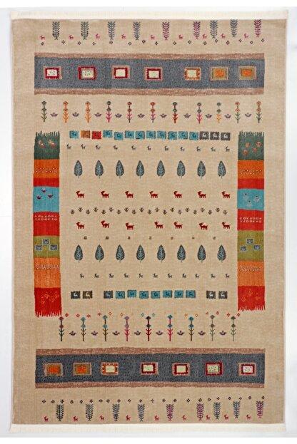 Nakka Halı Renkli Eskitme Vıntage Koleksiyon Halı  Al26a
