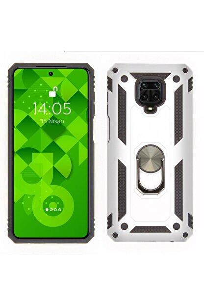 Jopus Xiamio Note 9 Pro / Note 9s Silikon Kılıf ( Zırh Gri )