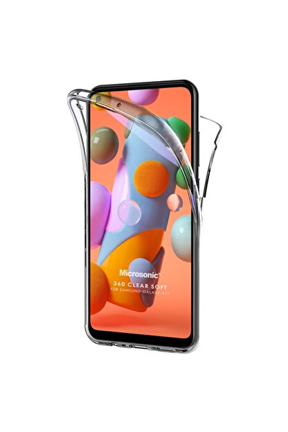 Samsung Microsonic Galaxy A11 Kılıf 6 Tarafı Tam Full Koruma 360 Clear Soft Şeffaf