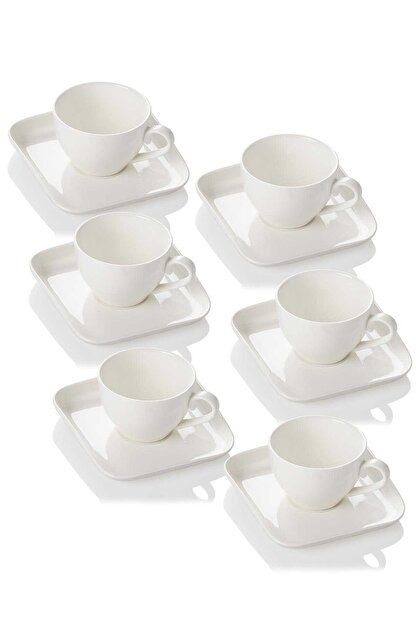 ACAR Porselen Sade 6'lı Çay Fincanı