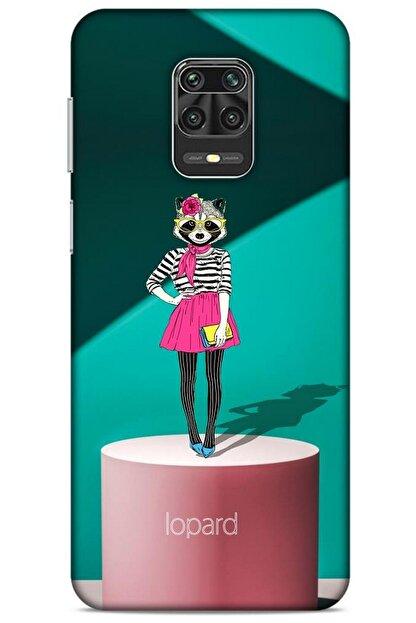 Lopard Xiaomi Redmi Note 9 Pro Kılıf Funnymax (10) Full Koruma Kılıfı Yeşil Pembe
