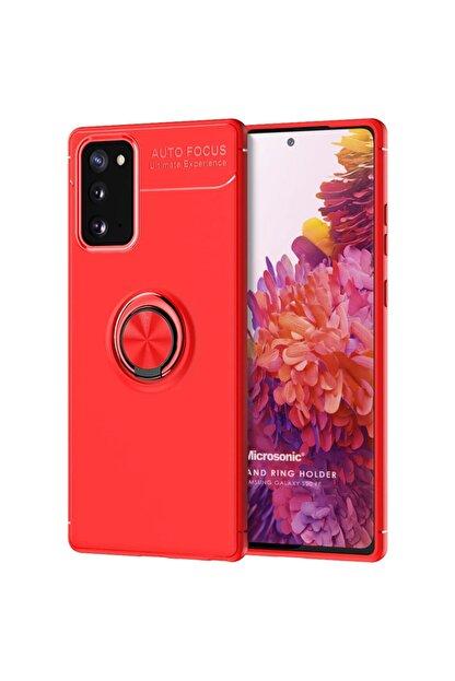 Samsung Microsonic Galaxy S20 Fe Kılıf Kickstand Ring Holder Kırmızı