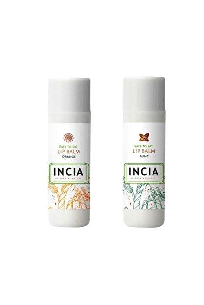 INCIA Lip Balm Orange 6 gr 1 Adet - Mint 1 Adet 1 Alana 1 Bedava