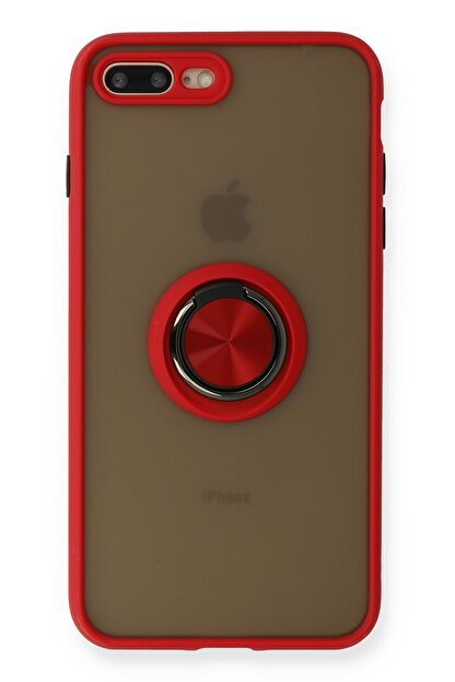 SENKA Iphone 8 Plus Kılıf Kamera Korumalı Yüzüklü Silikon Kılıf