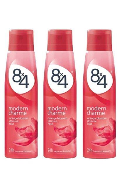 8x4 Modern Charme Kadın Deo Sprey 150 ml X 3 Adet