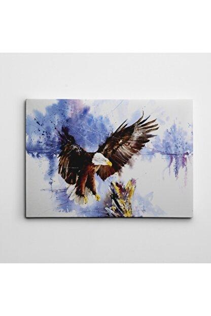 Dekolata Kartal Ve Ağaç Suluboya Kanvas Tablo 60 x 85 cm