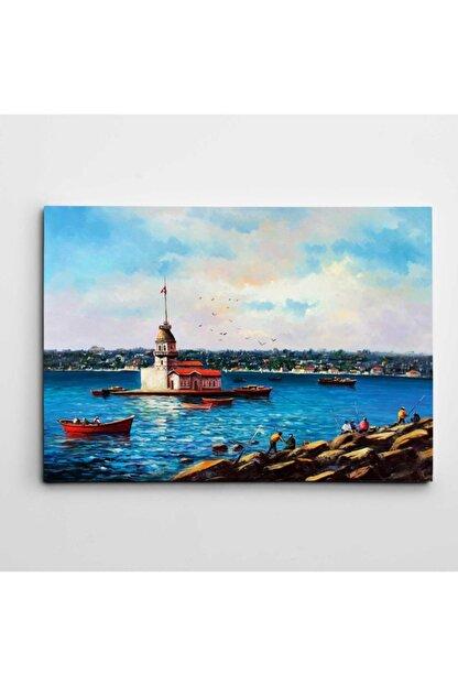 Dekolata Kız Kulesi Manzarası Kanvas Tablo 30 x 40 cm