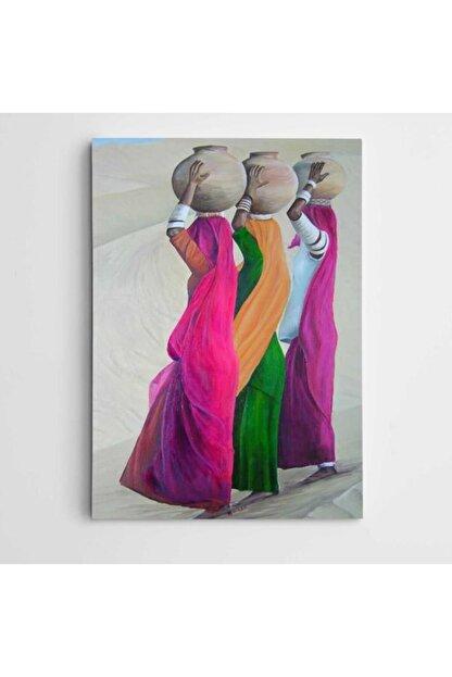 Dekolata Çöl Ve Testiler Modern Kanvas Tablo 50x70 cm
