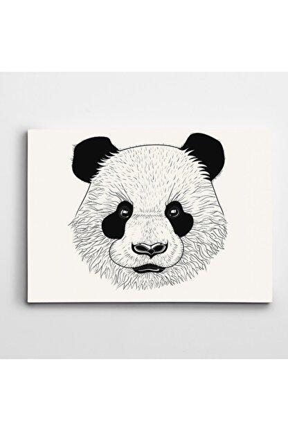 Dekolata Sevimli Panda Kanvas Tablo 50x70 cm