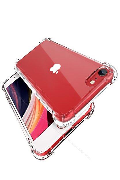 Soffy Iphone Se 2020 Kılıf Köşeleri Airbag Korumalı Shield Şeffaf Silikon Kapak