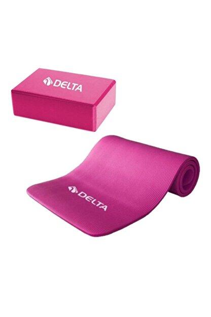 Delta 15 Mm Yoga Mat-yoga Minderi Ve Yoga Blok-yoga Köpüğü Fuşya