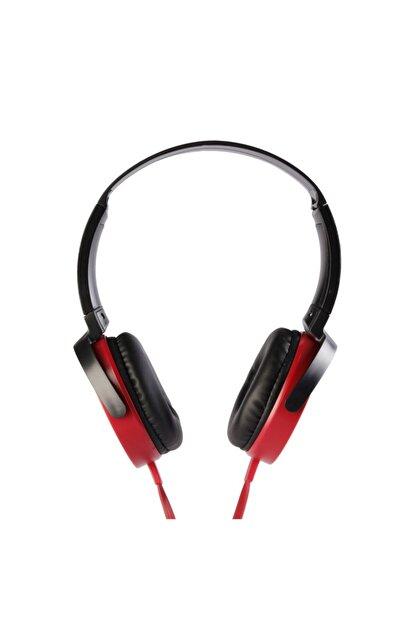 MF PRODUCT 0106 Mikrofonlu Kablolu Kulak Üstü Kulaklık Kırmızı