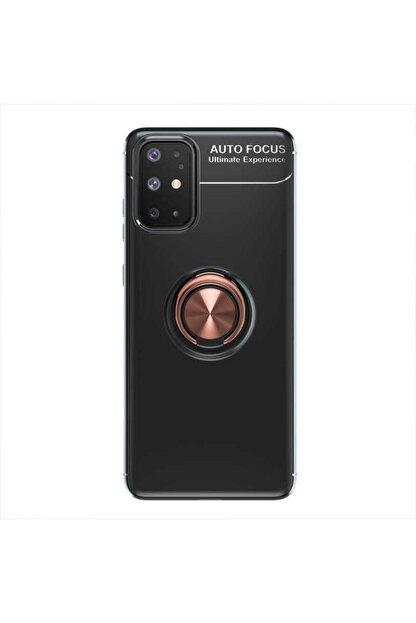 Samsung A31 Yüzüklü Silikon Kılıf Siyah