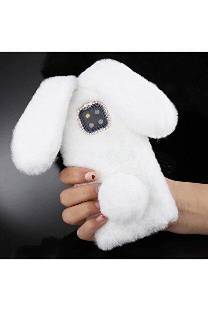 Mobildizayn Huawei P 9 Lite 2017 Beyaz Tavşan Kulaklı Pelüş Kılıf