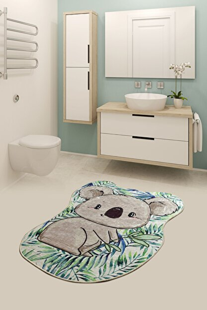 Chilai Home Koala Shape 80x100 cm  Banyo Halısı, Paspas