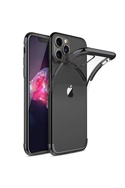 Teknoloji Adım Iphone 11 Pro Max Kılıf Lazer Boyalı Renkli Esnek Silikon Şeffaf