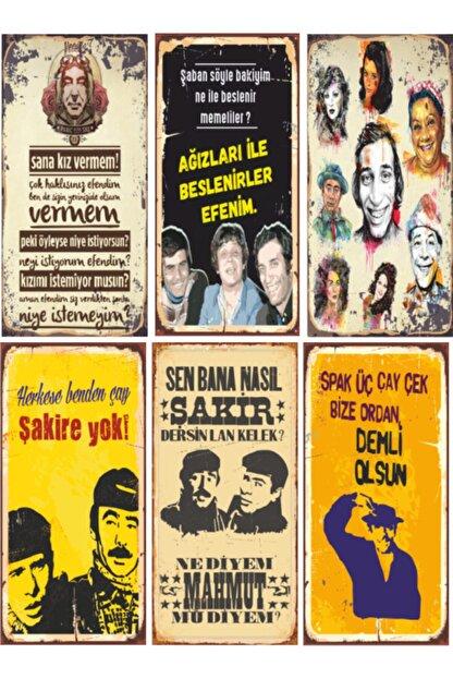 Hayat Poster Yeşilçam Retro Ahşap Poster Seti - 5