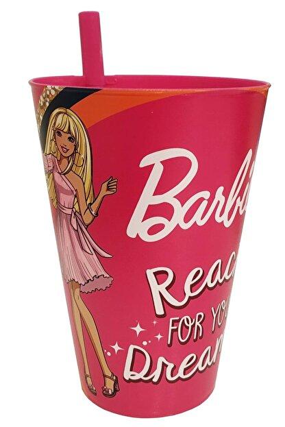 KaktüsKedi Pipetli Barbie Lisanlı Çocuk Bardağı 713500