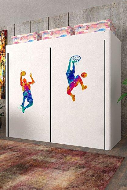 CimriKese Geniş Hacimli Çift Askılı Bez Dolap Basket Bezdolap