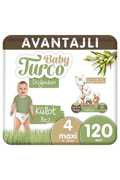Baby Turco Doğadan Avantajlı Külot Bez 4 Numara Maxi 120 Adet