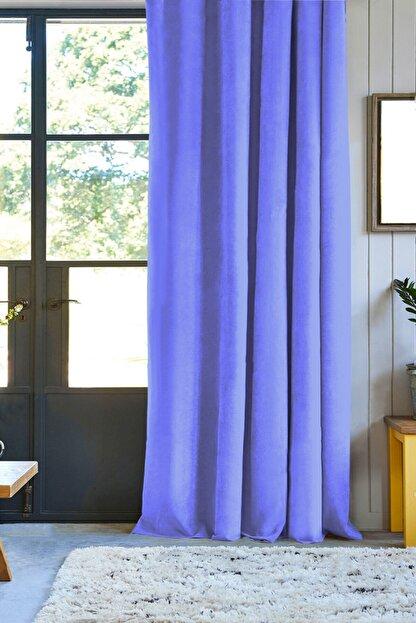 Pierre Cardin Düz Dikiş Pilesiz Petek Dokulu Ekstraforlu Fon Perde-mavi