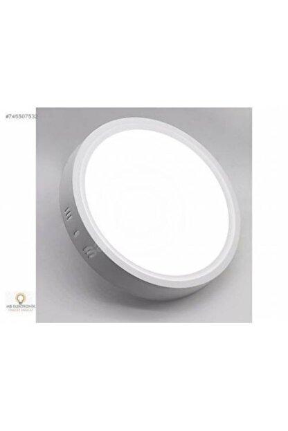 Led 18w Yuvarlak Beyaz Işık Sıvaüstü Slim Panel Tavan Aydınlatma Armatürü