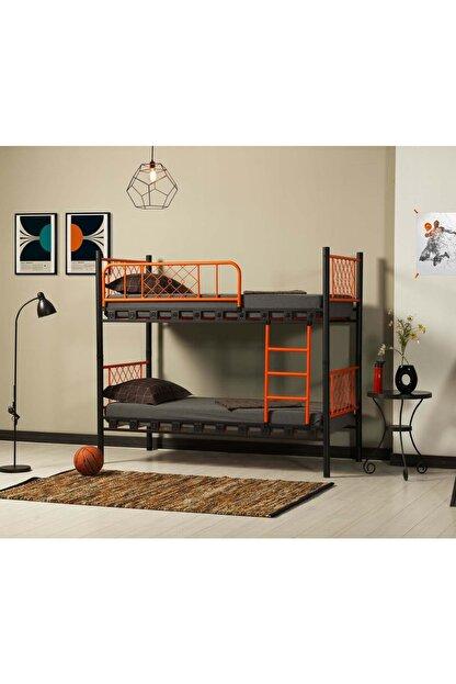 ARGİMO Ranza Metis 90x190 Genç Çocuk Yatak Odası Metal Ranza Ve Karyola