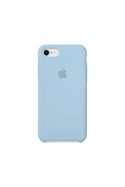 Manka Store Bebe Mavisi Iphone 7 / 8 Uyumlu Lansman İçi Kadife Kılıf