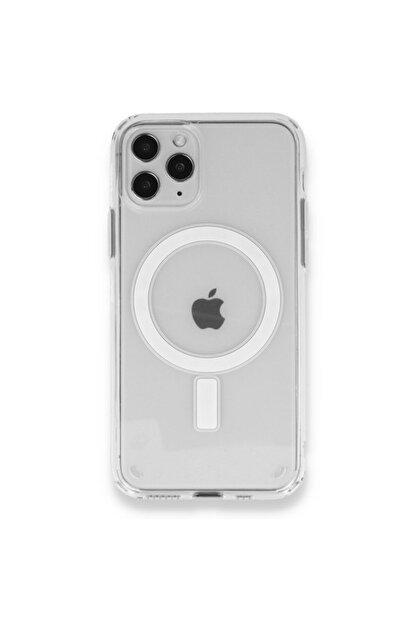 SENKA Iphone 11 Pro Uyumlu Magsafe Özellikli Şeffaf Kılıf